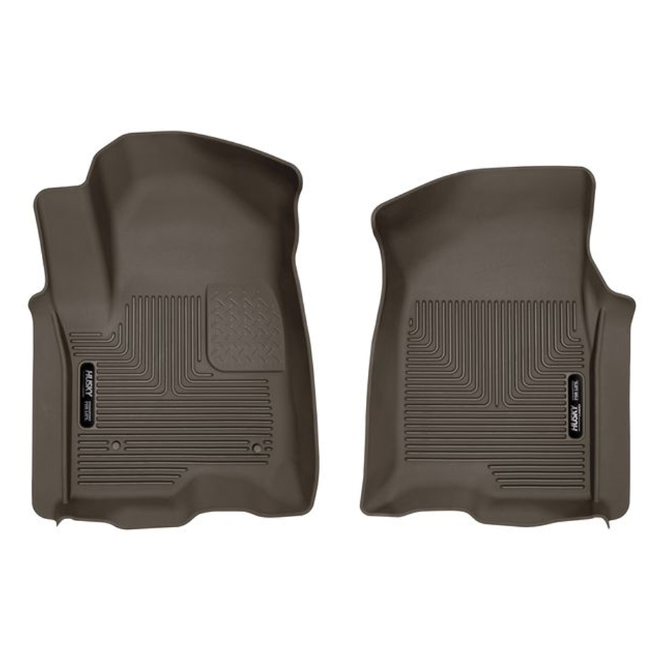 Husky Liners GM X-Act Contour Floor Liners Front Cocoa