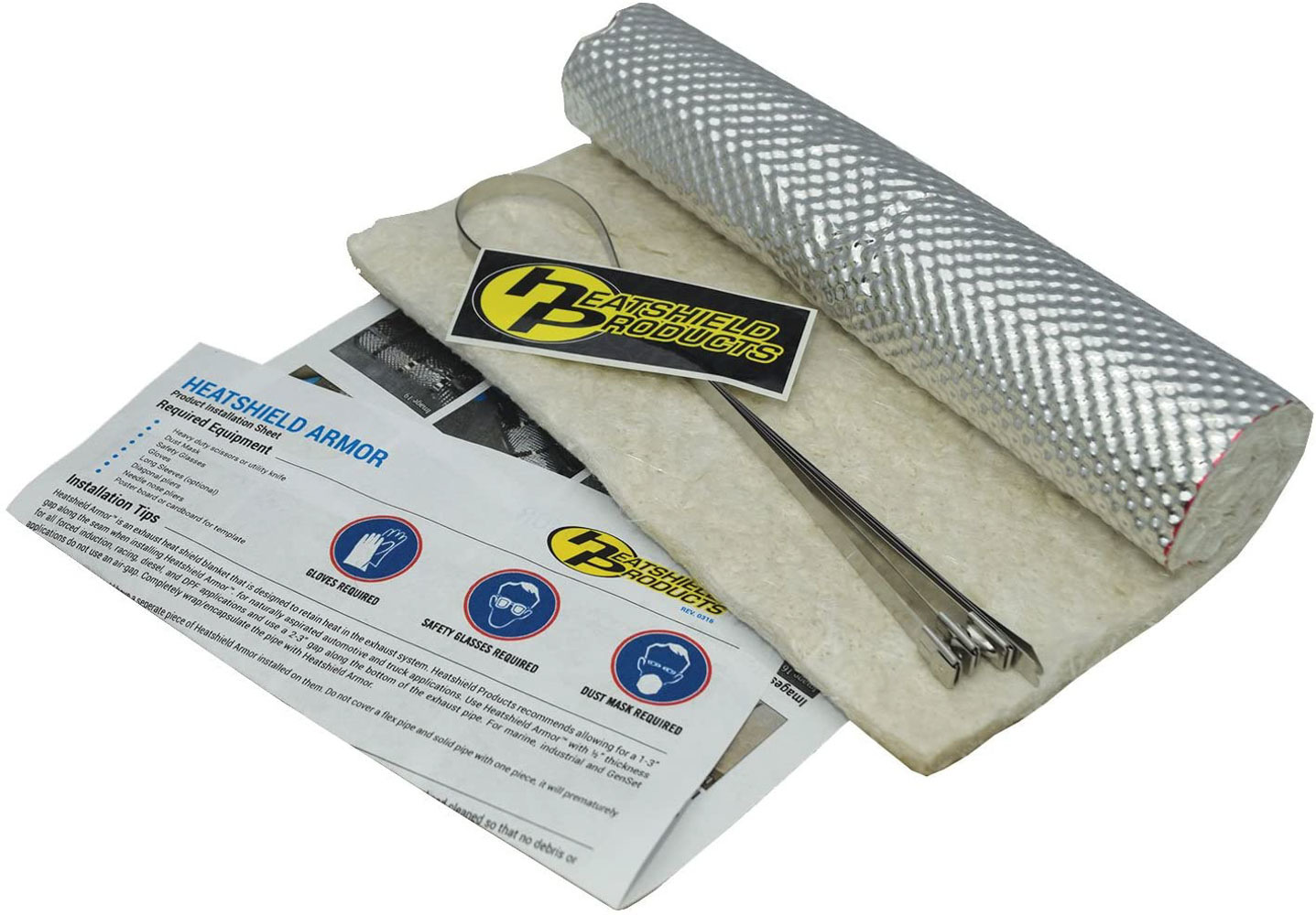 Heatshield Products Heatshield Armor Kit w/ ties 12 in x 10 in