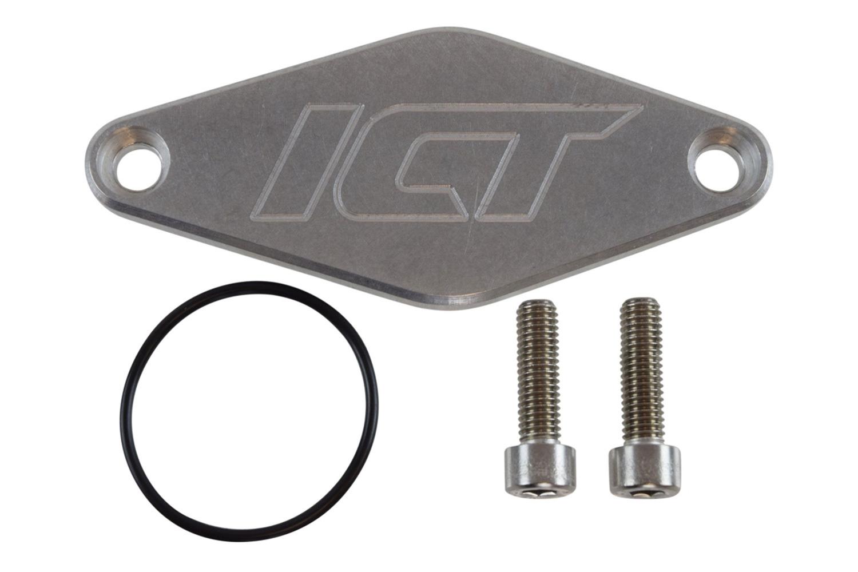 Ict Billet Fuel Pump Block Off Plat e Direct Injection Delet