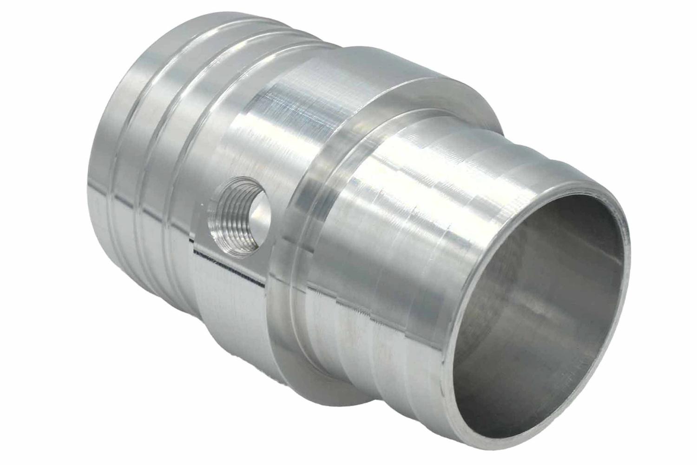 Ict Billet 1-1/4 to 1-1/2 Hose w/ 1/8NPT Steam Port Adapt