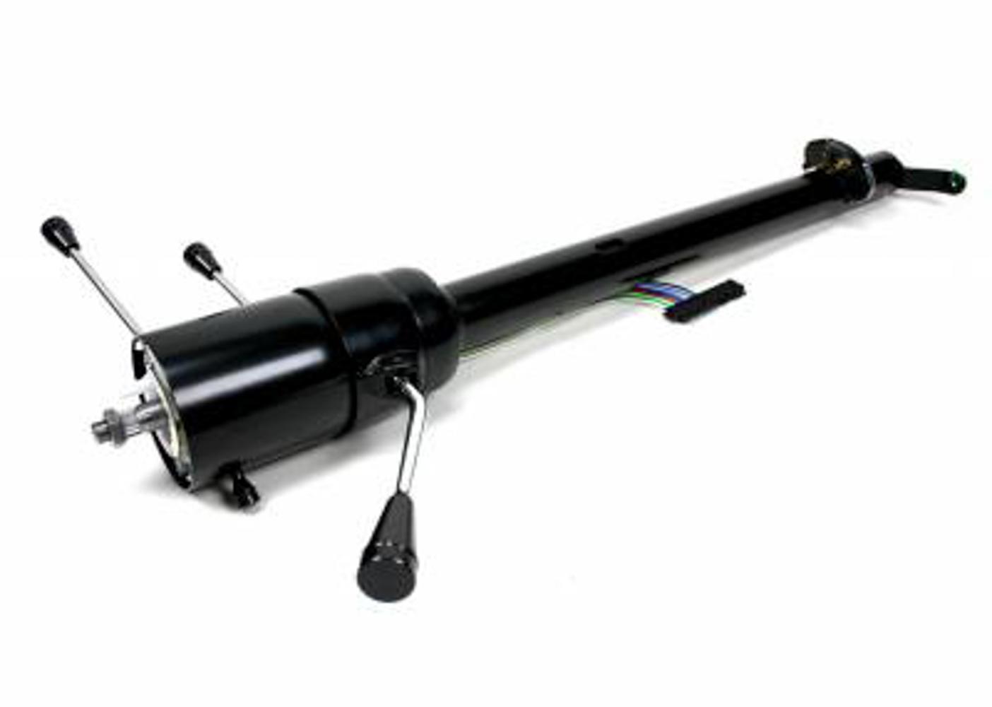 Ididit 67-72 Ford P/U Steering Column Black Manual