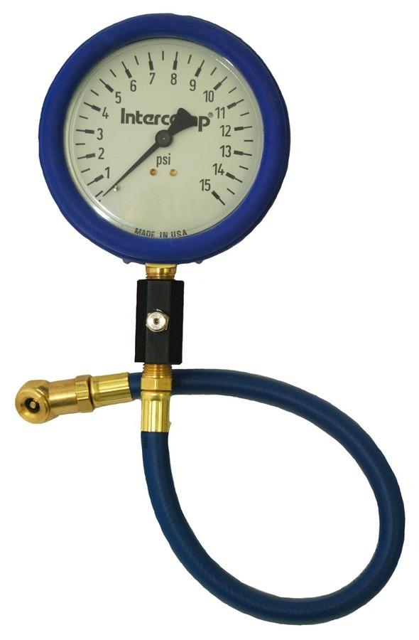 Intercomp Air Gauge 15 x 1/2 psi 4in Glow Dial
