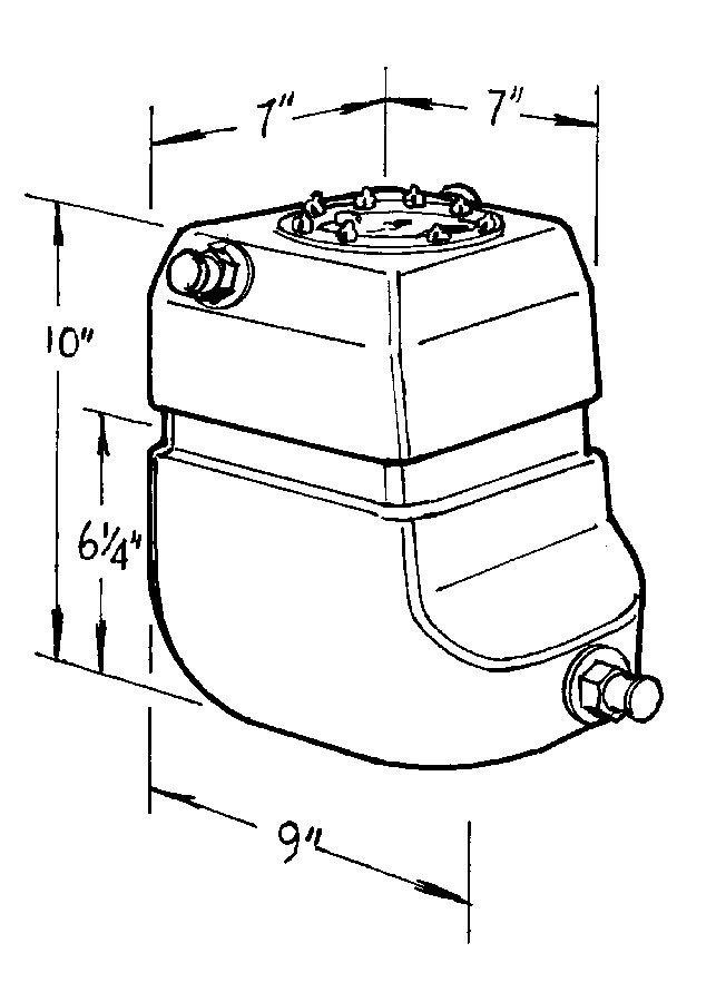 Jaz 2-Gallon Pro Drag Fuel Cell