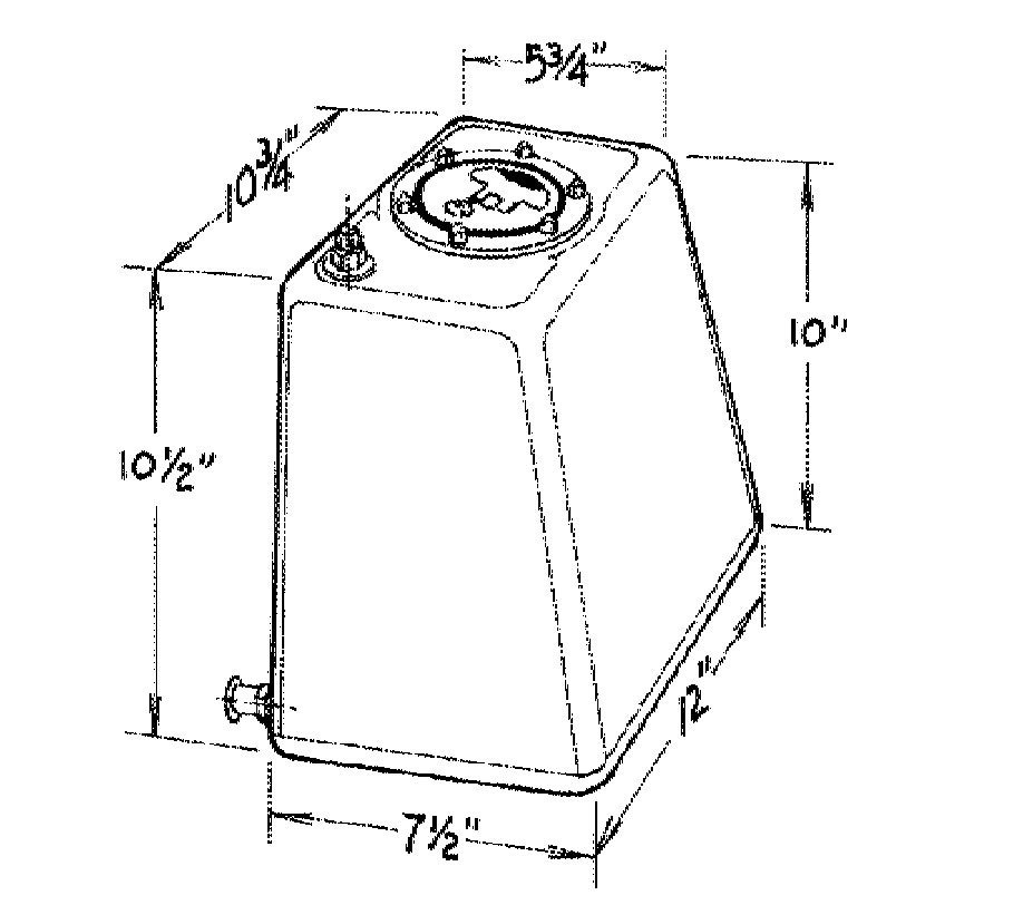 Jaz 3-Gallon Econo Rail Fuel Cell