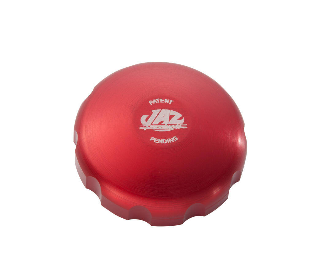 Jaz 2-1/4 Billet Twist Fuel Cap - Red Anodized