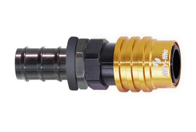 Jiffy-tite Q/R #8 Male Push Lock to #8 Socket Valved