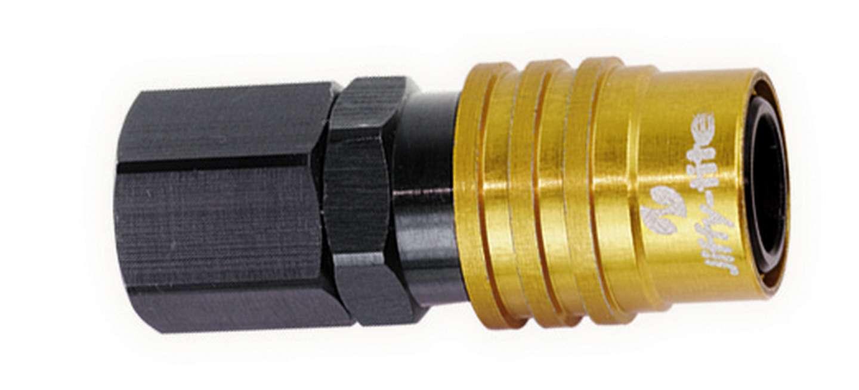 Jiffy-tite Q/R Female 1/2 NPT #8 Socket Valved Gold/Black