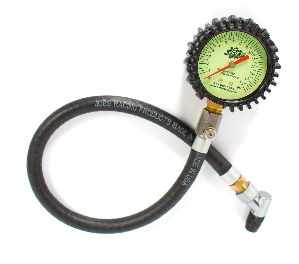 Joes Racing Products Tire Pressure Gauge 0-15 PSI