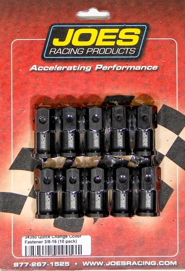 Joes Racing Products LW Aluminum Quick Change Cover Nut Kit - 10 Pack