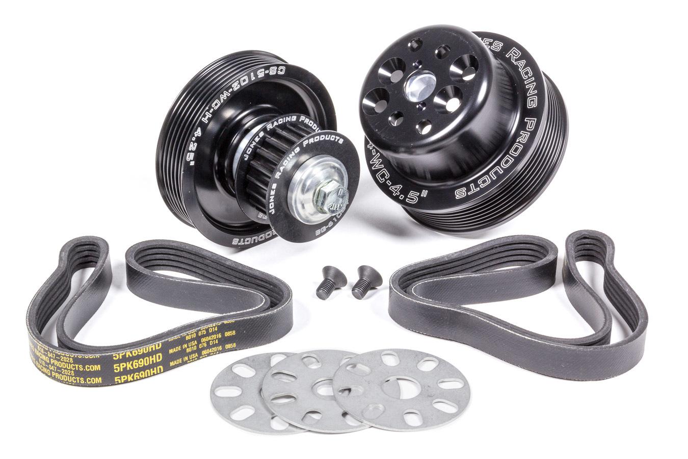 Jones Racing Products Serpentine Drive Kit SBC Crate w/ Tandem Pumps