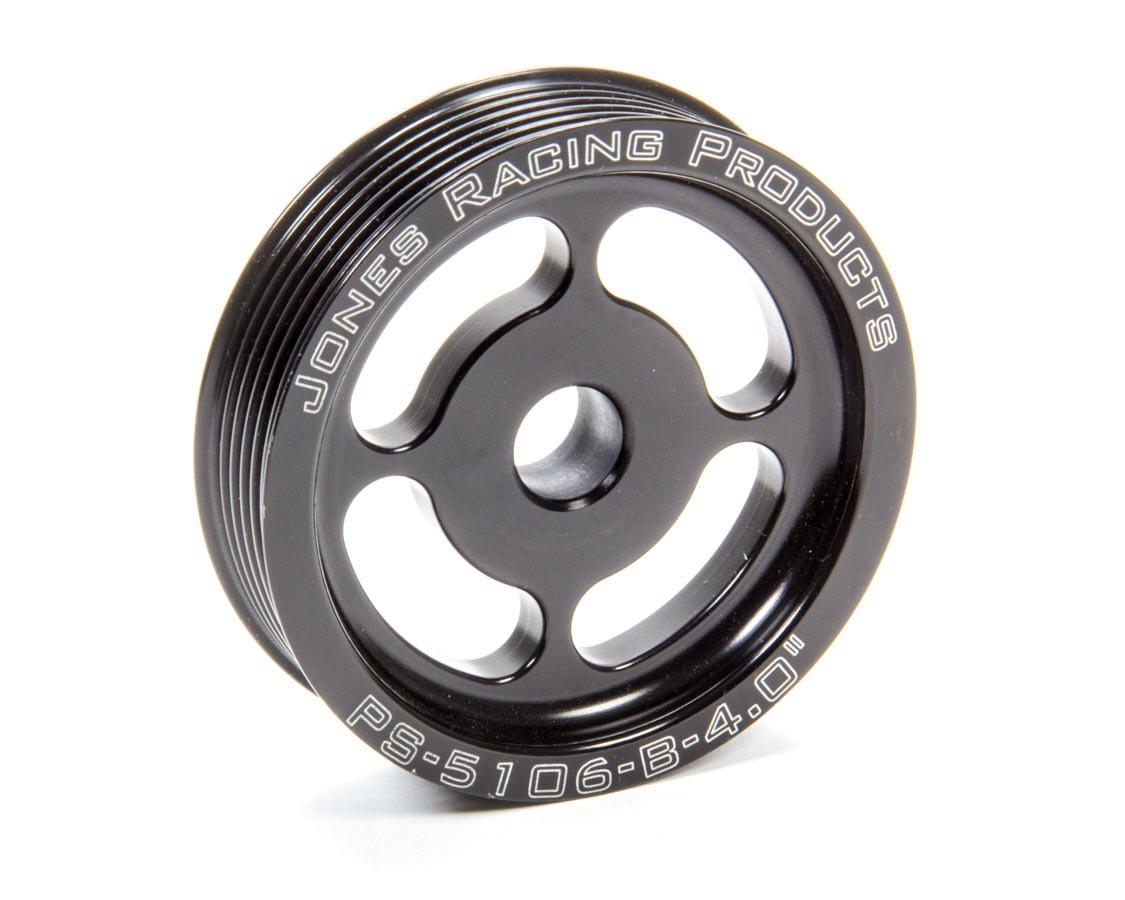 Jones Racing Products Power Steering Pulley Serpentine 4in