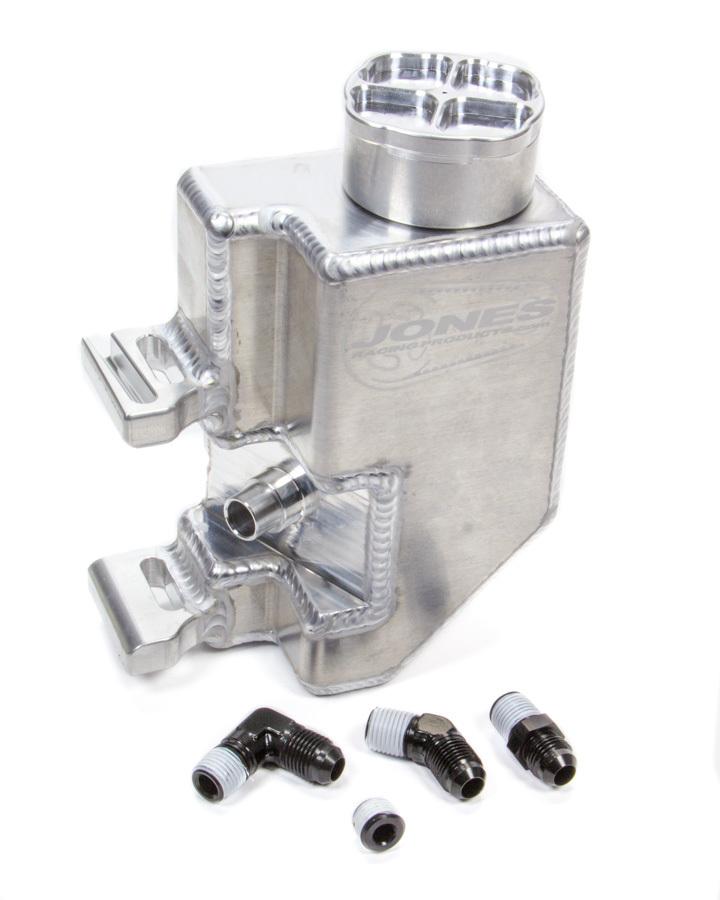 Jones Racing Products P/S Reservoir L/W Alum w/Aux Bung & Billet Cap