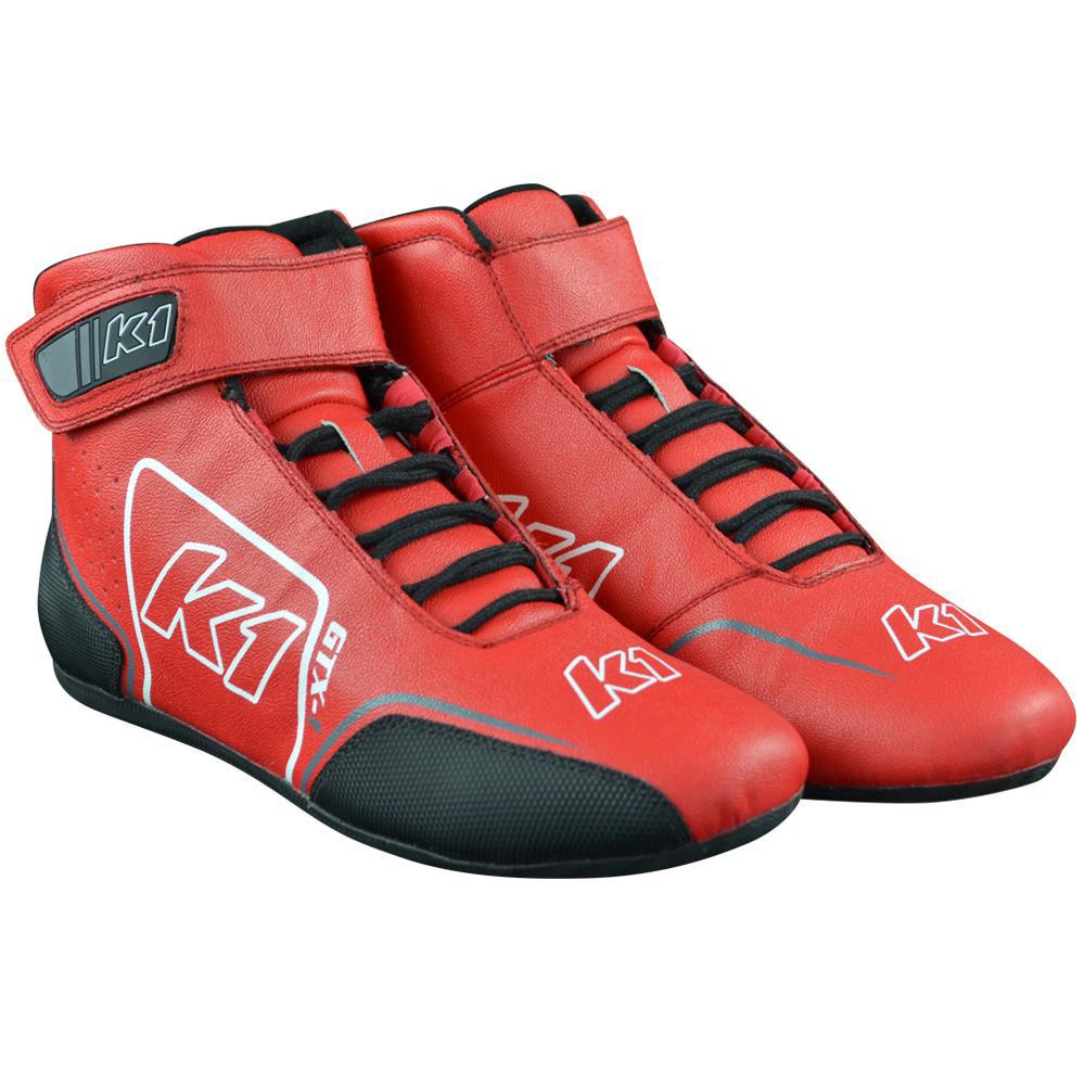 K1 Racegear Shoe GTX-1 Red / Grey Size 10.5
