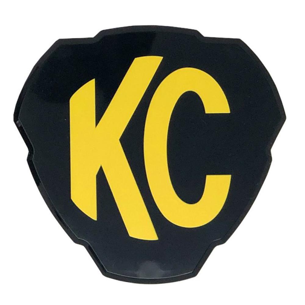 Kc Hilites Flex Era 3 Cover Black w/KC Logo Each