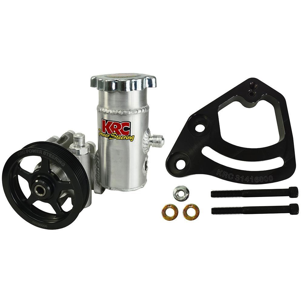 Krc Power Steering Power Steering Pump Kit SBC 4.2in 6-Rib Serp