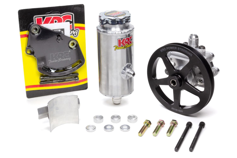 Krc Power Steering Power Steering Kit SBC Head Mnt 6in V-Belt