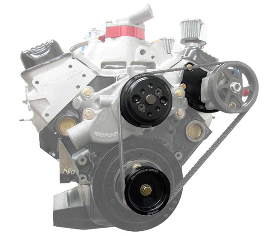 Krc Power Steering Basic Crate Engine Kit Head Mount w/ pump