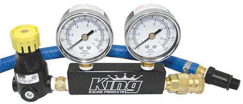 King Racing Products Leak Down Tester Dual Gauge