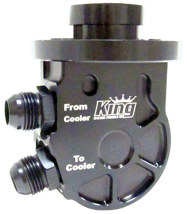 King Racing Products Oil Cooler Adaptor SBC Low Profile