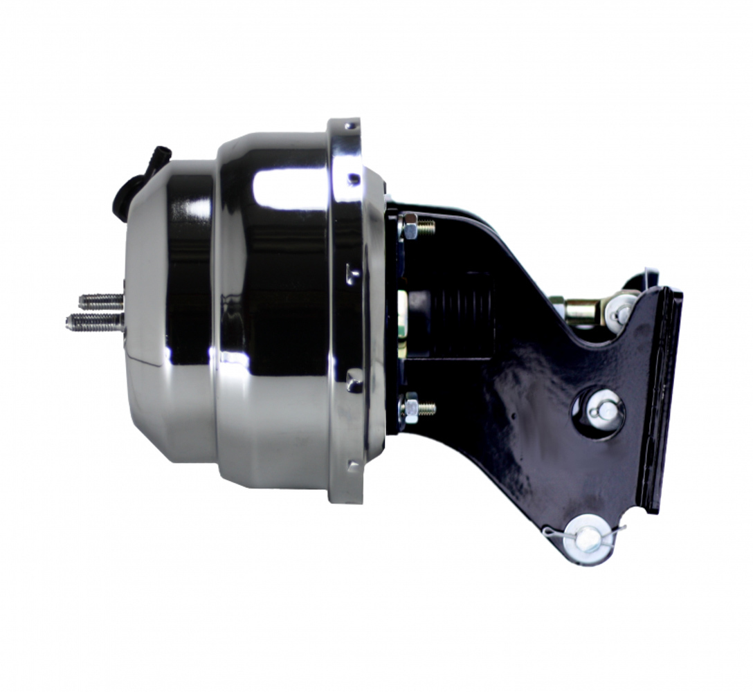 Leed Brakes 8in Dual Power Booster With Bracket Chrome