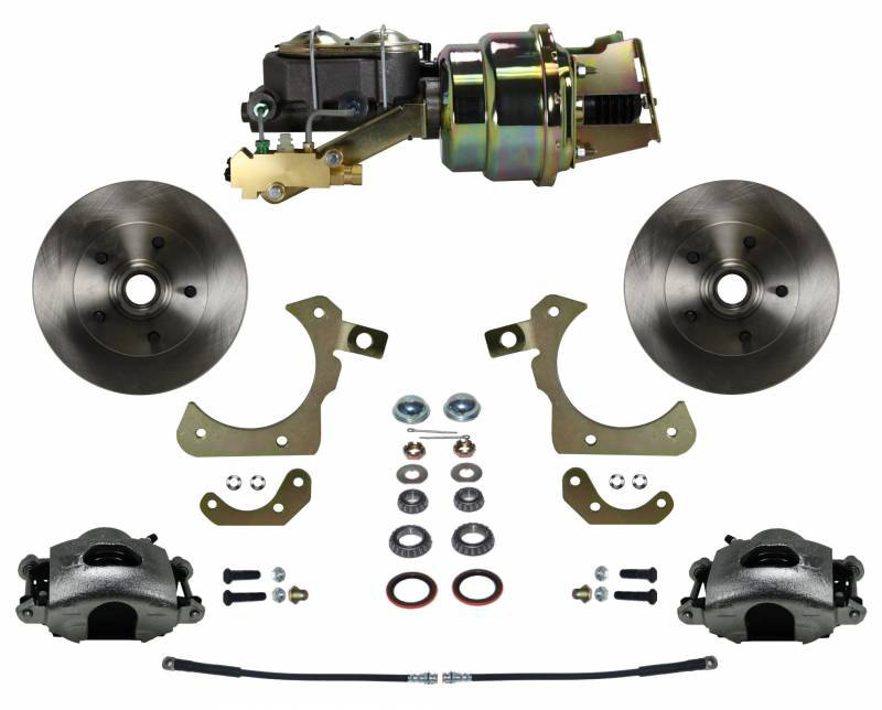 Leed Brakes Power Front Kit with Pla in Rotors and Zinc Plate