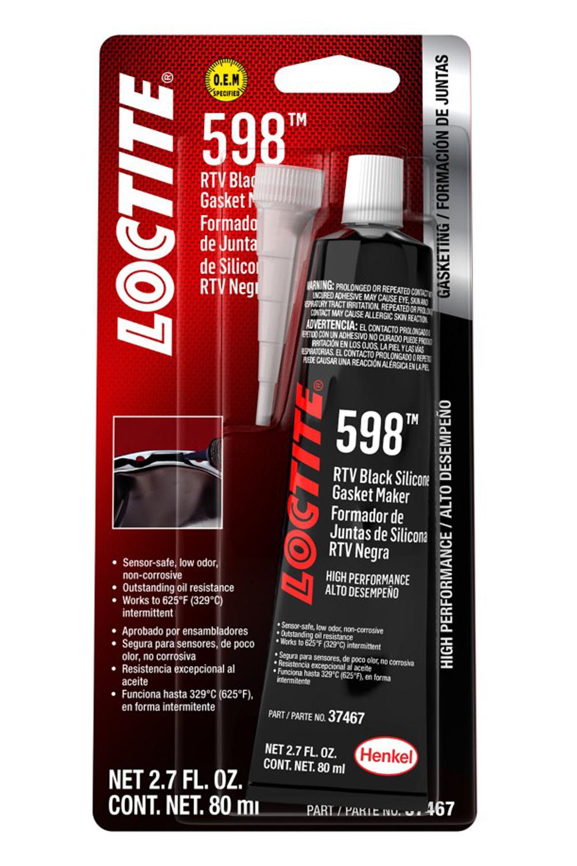 Loctite RTV 598 Black Silicone 80ml/2.7oz