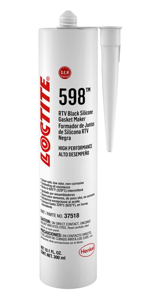 Loctite RTV 598 Black Silicone Cartridge 300ml/10.14oz