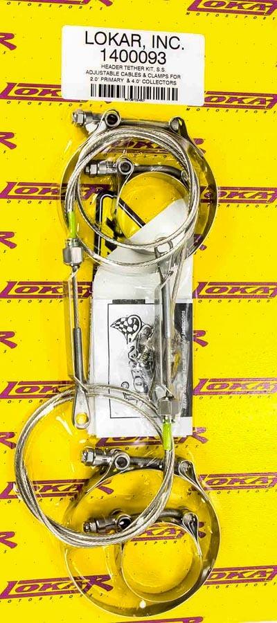 Lokar Header Tether Kit For 2.375in Primary 4in Col.