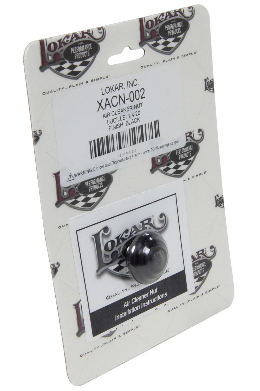 Lokar Air Cleaner Nut Lucill E 1/4-20 Black