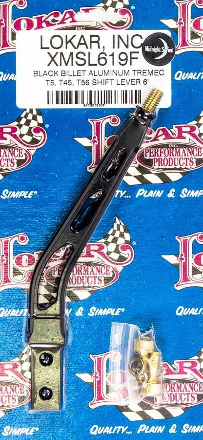 Lokar Shift Lever TKO 500-600 Aluminum 6in Black