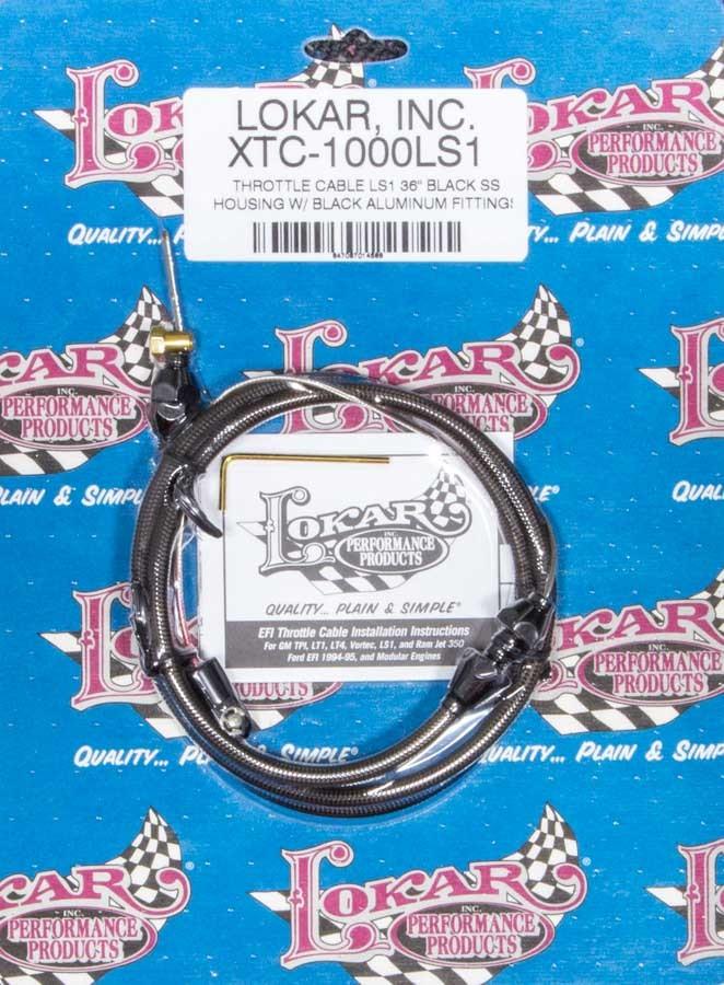 Lokar Throttle Cable Black 36in LS1
