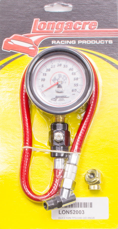 Longacre Tire Gauge 0-60PSI 2.5in GID Deluxe