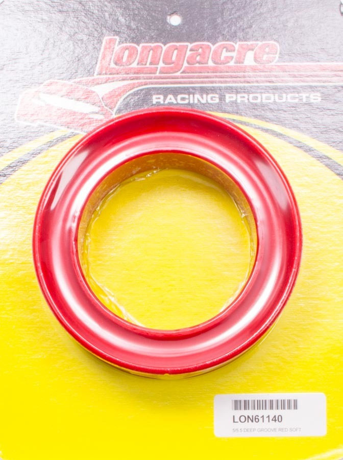 Longacre 5in/5.5in Deep Groove Spring Rubber Red Soft