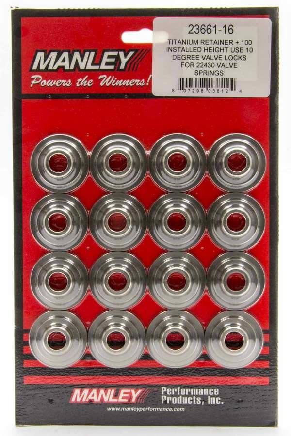 Manley 10 Degree Titanium Retainers - 1.550