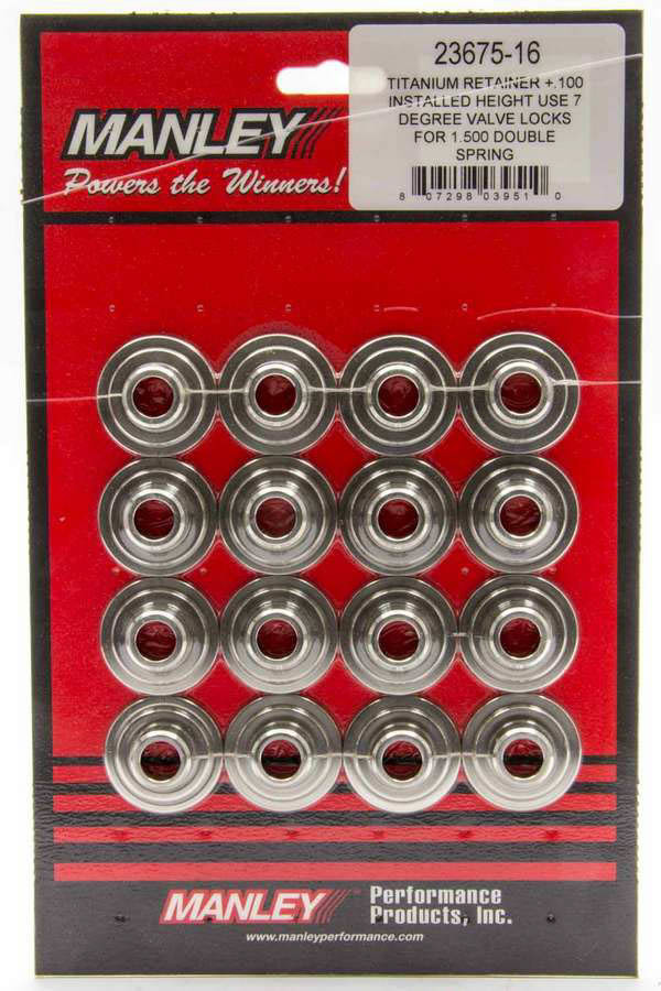 Manley 7 Degree Titanium Valve Spring Retainers +.100