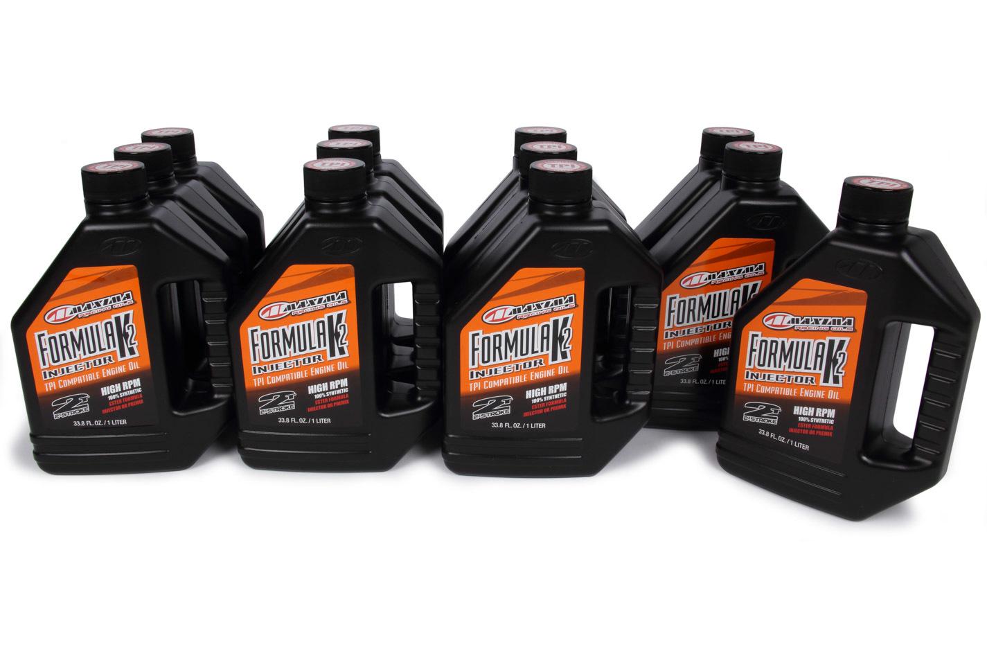 Maxima Racing Oils Formula K2 Injector 2-St roke Oil Case 12x1 Liter