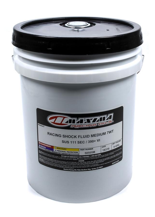 Maxima Racing Oils Racing Shock Fluid Medium 7wt. 5 Gallon