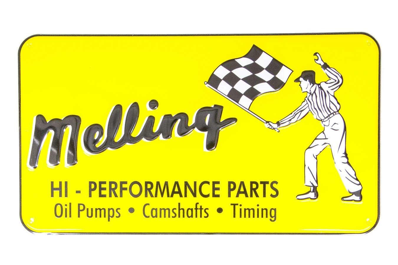 Melling 1960 Nostalgic Metal Sign - Yellow (Flag Man)