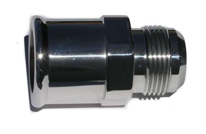 Meziere -16an Male to 1-1/2 Hose Adapter - Polished