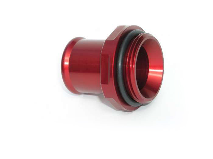 Meziere 1.25in Hose Water Neck Fitting - Red