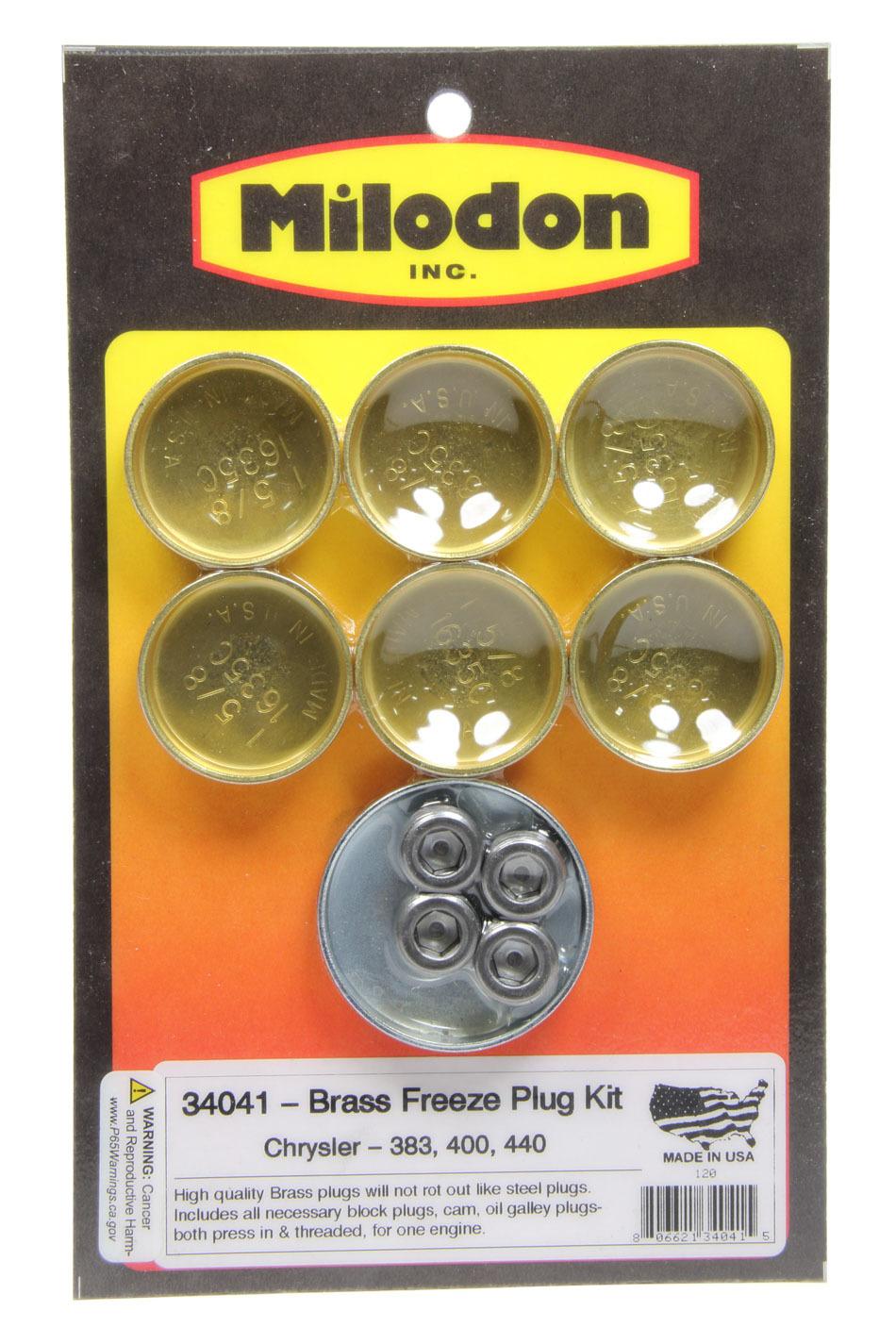 Milodon BBM Brass Freeze Plug Kit
