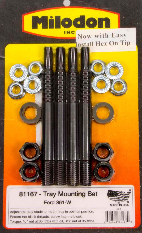 Milodon Ford 351W Windage Tray Installation Kit