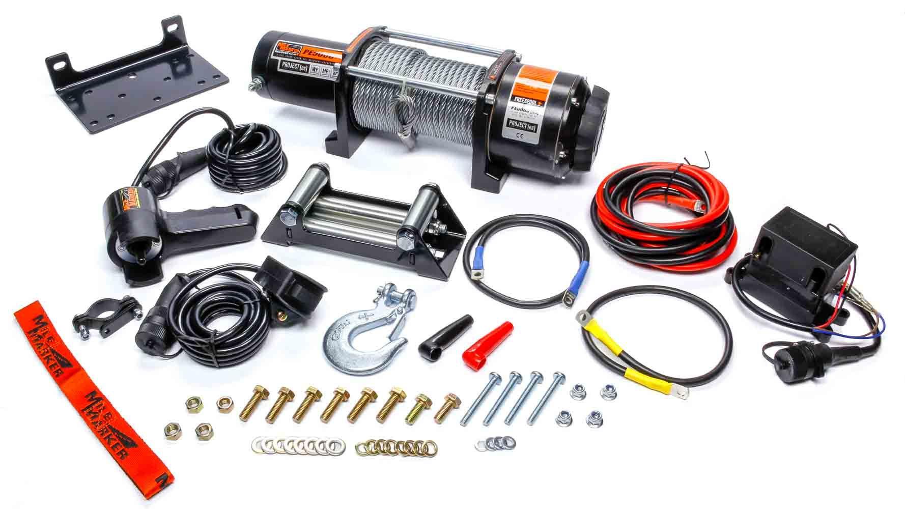 Mile Marker 5000lb Winch w/Roller Fairlead & 12ft Remote
