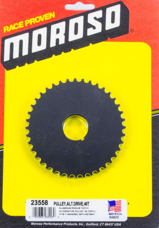 Moroso Alternator Drive Pulley 40T- Radius Tooth