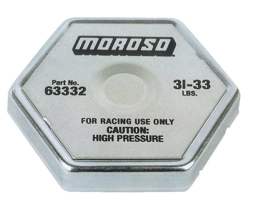 Moroso Radiator Cap 31-33 psi Hexagon