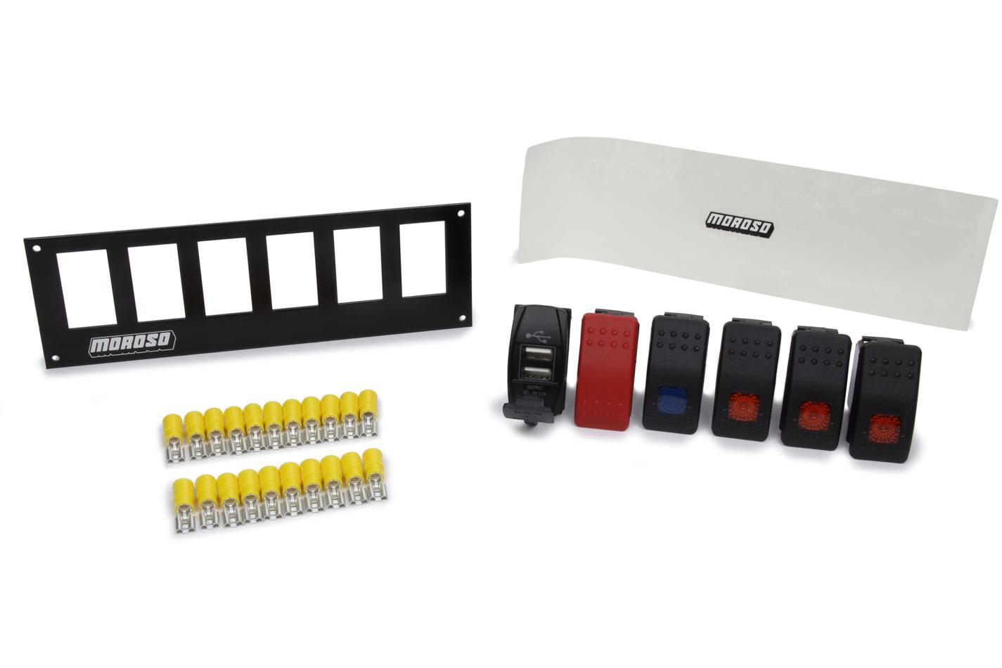 Moroso Rocker LED Switch Panel w/USB Ports