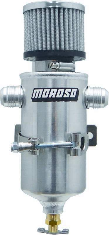 Moroso Breather Tank- Dry Sump w/Two 12an Male