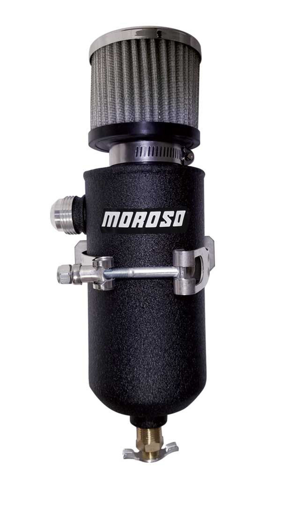 Moroso Remote Breather Tank - w/12an Fitting