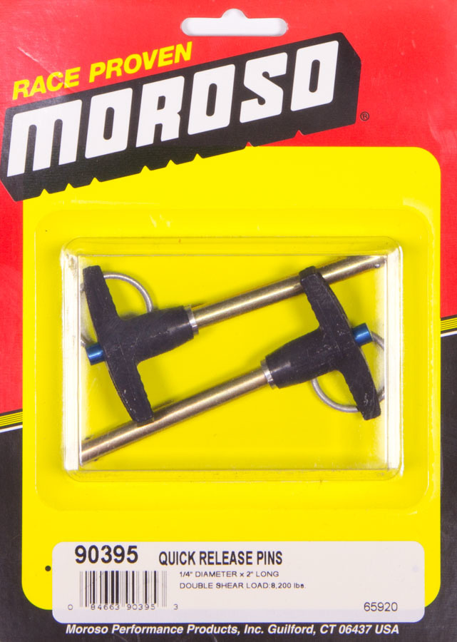 Moroso Quick Release Pins (2) 1/4 x 2in