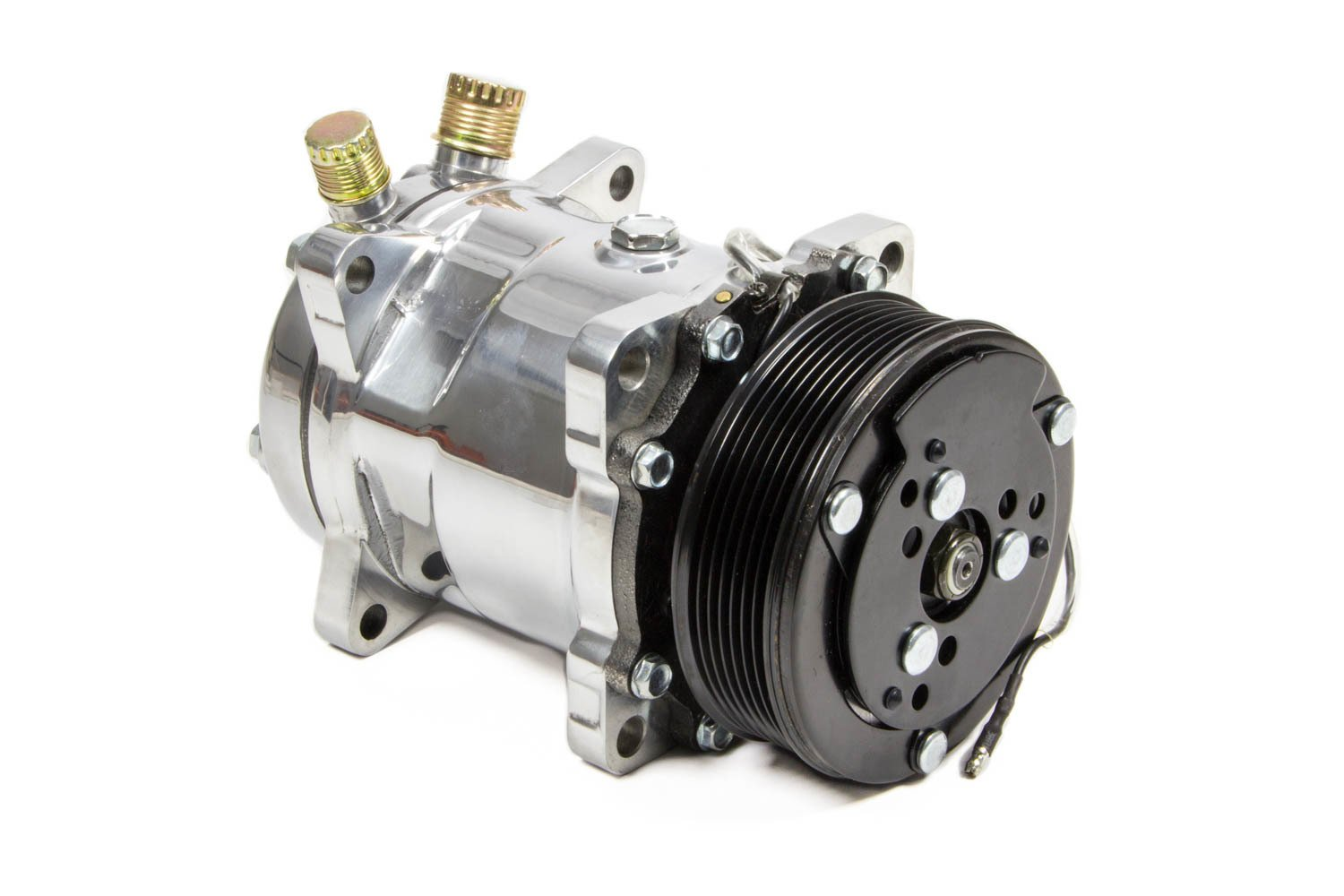 March Performance A/C Compressor 134 Polished